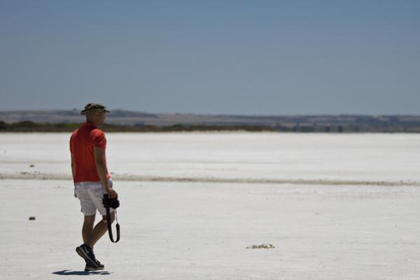 passeggiata sul lago salato