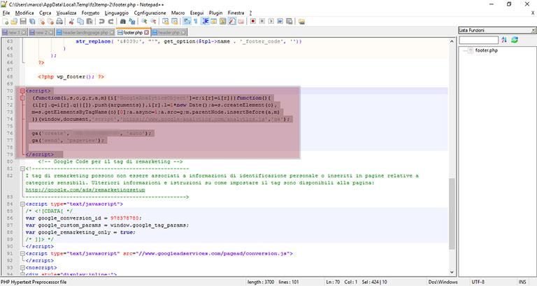 Google Tag Manager: caricare gli script