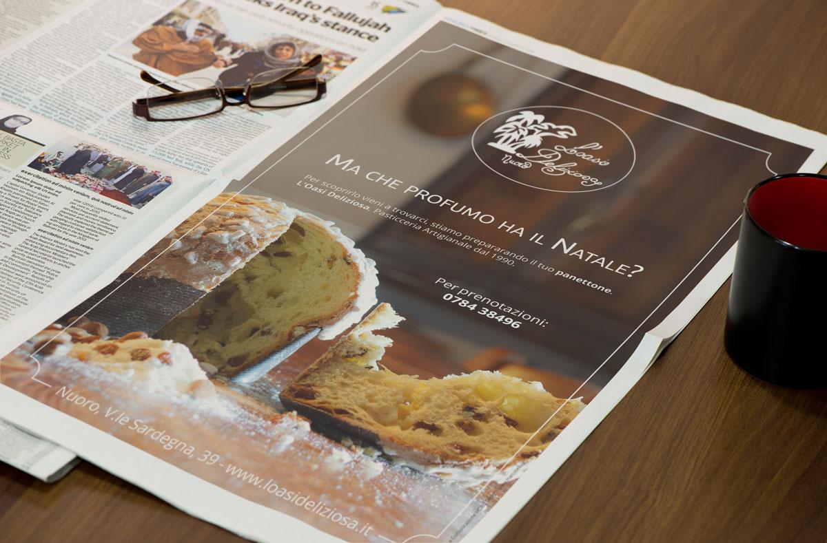 L'oasi Deliziosa - Campagna Natale 2017 - Newspaper ads