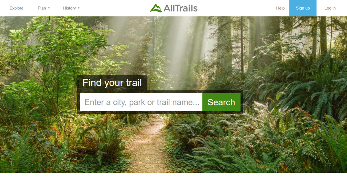 Homepage Alltrails