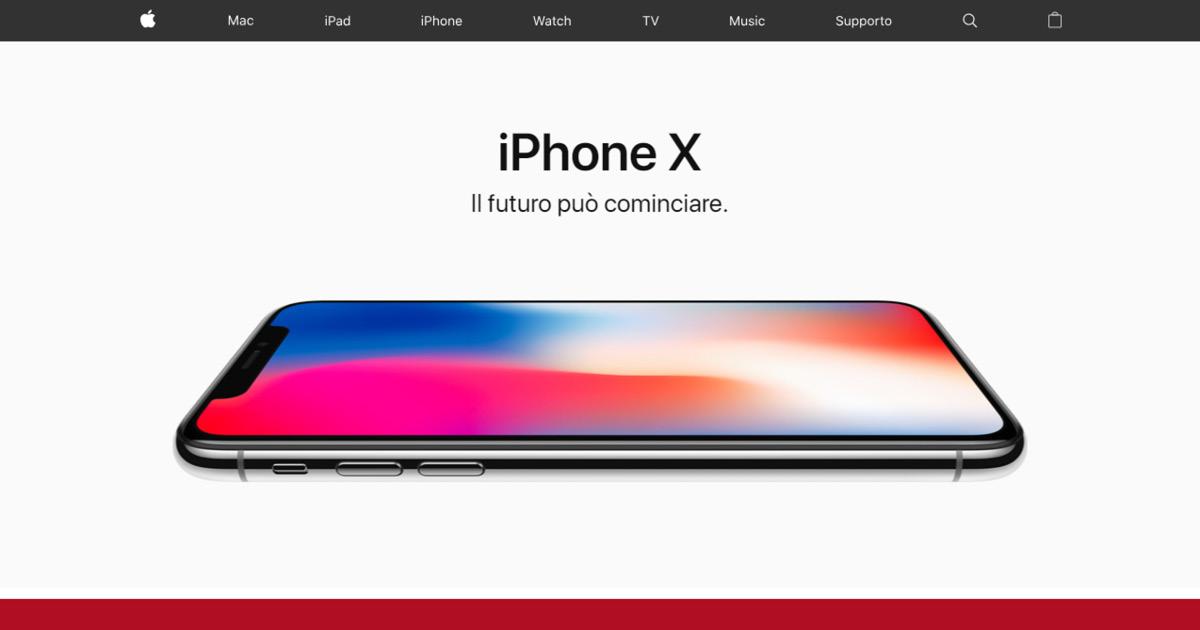 Homepage Apple