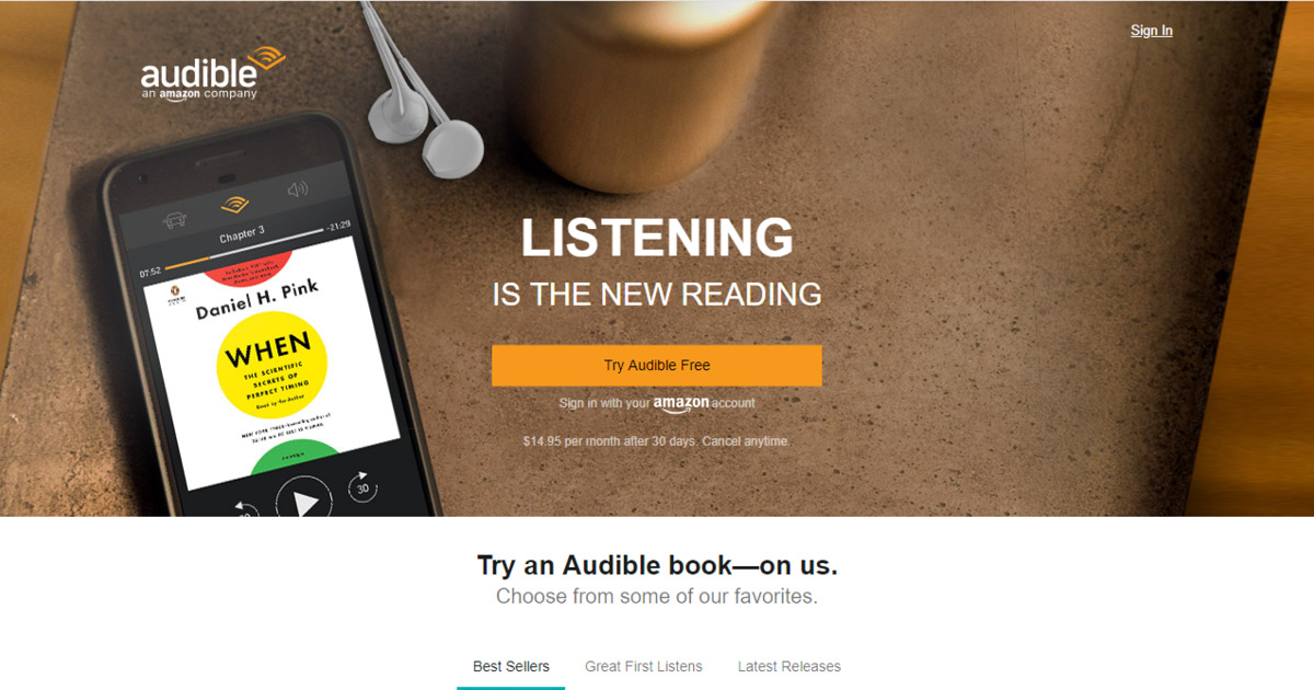 Homepage Audible