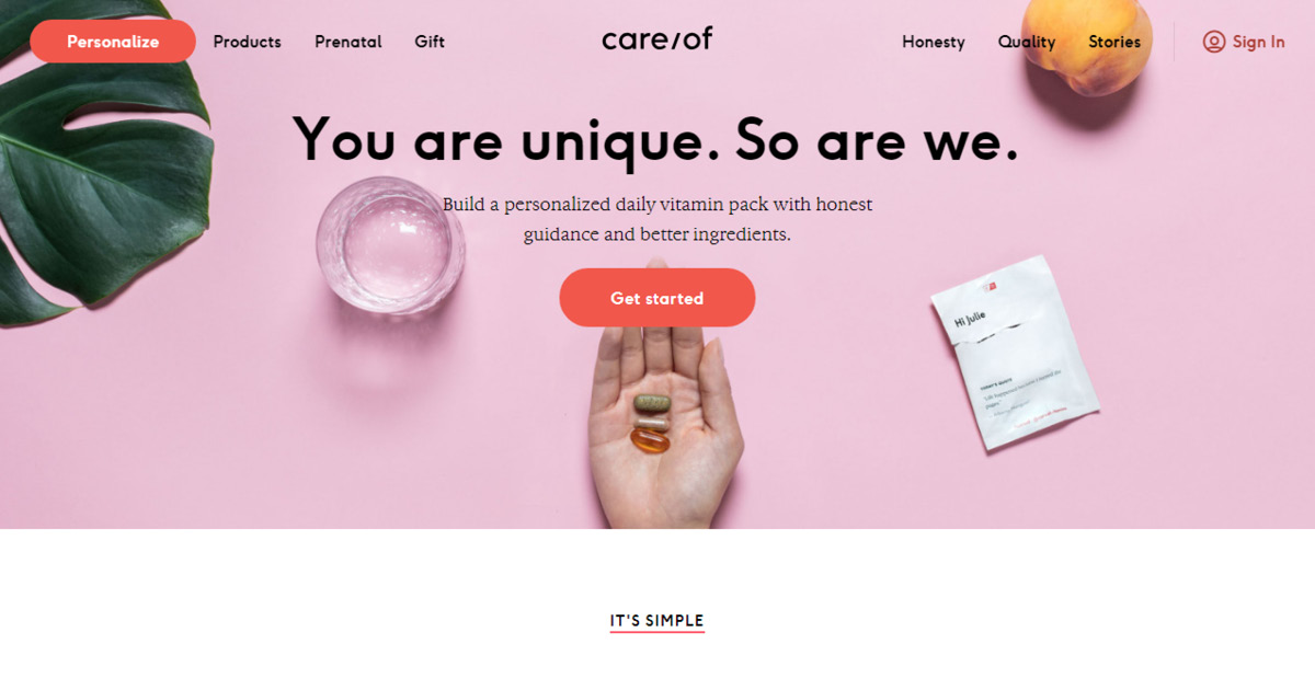 Homepage Care/of