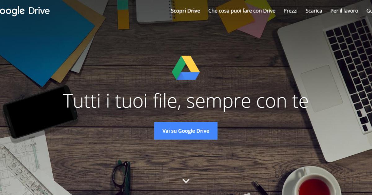 Homepage Google Drive