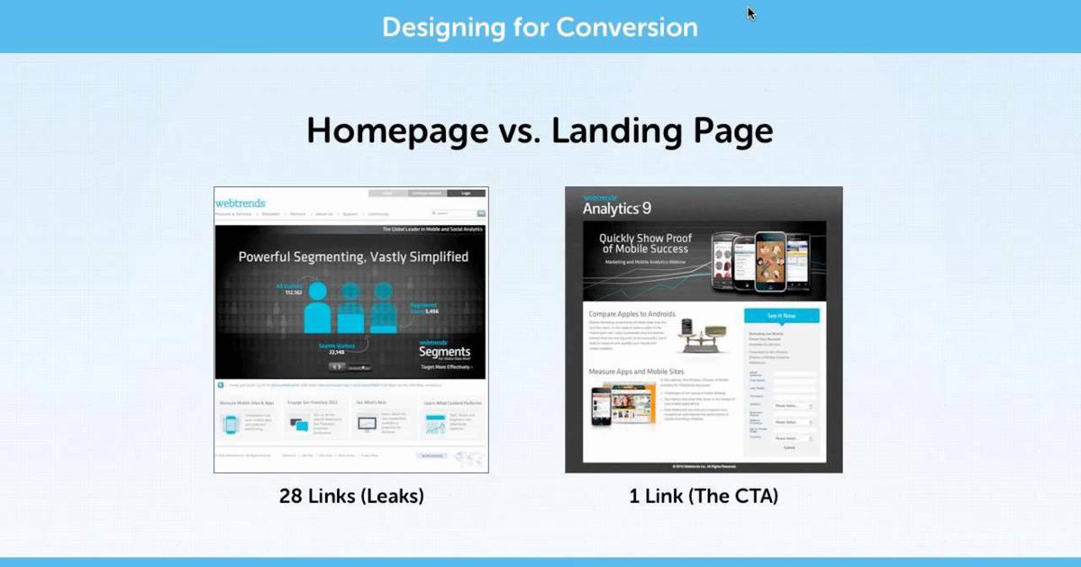 homepage vs landingpage - Parte I