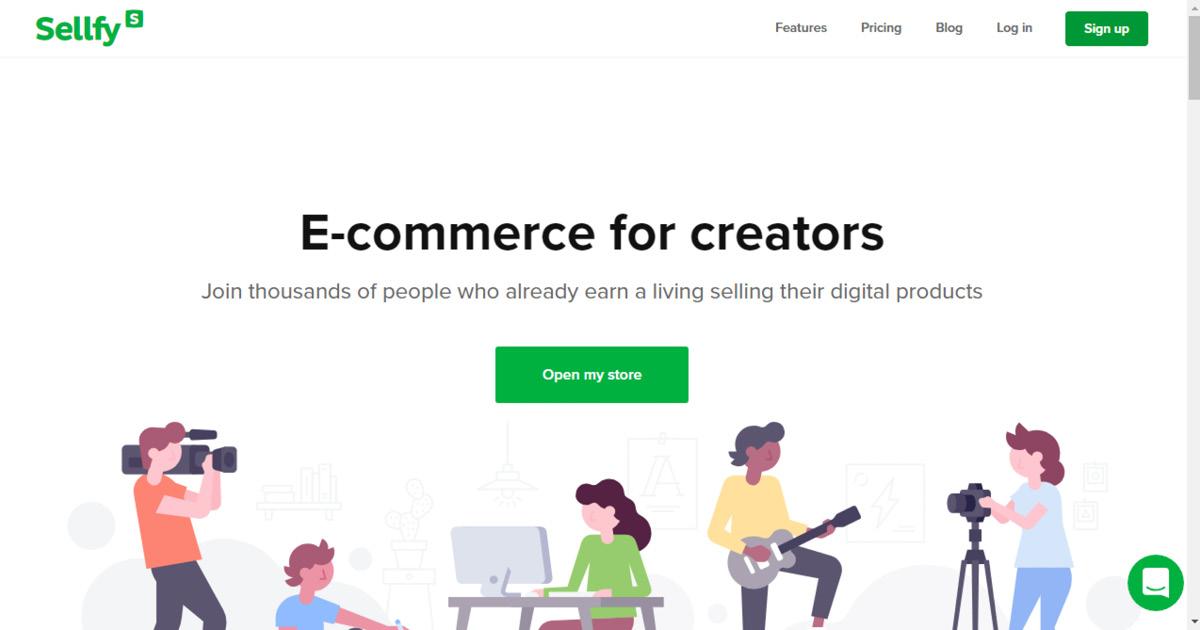 Homepage Sellfy