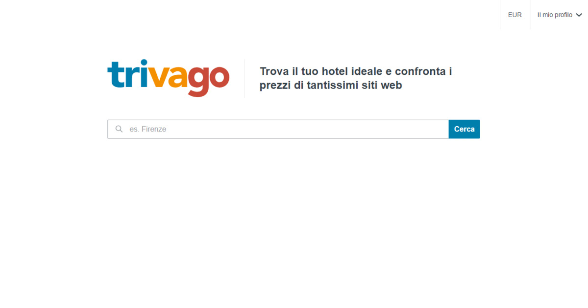 Homepage Trivago