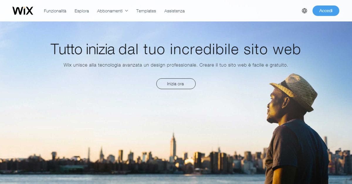 Homepage Wix